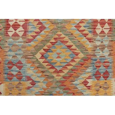 Vallejo Traditional Kilim Hand Woven Wool Beige Southwestern Fringe Area Rug