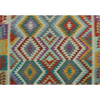 Vallejo Kilim Hand Woven Wool Rectangle Red Area Rug