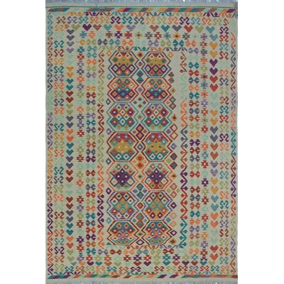 Rucker Kilim Hand Woven 100% Wool Beige Southwestern Area Rug