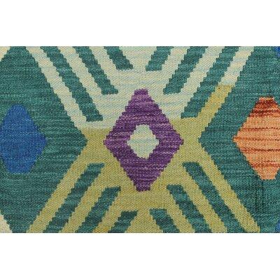 Rucker Kilim Hand Woven 100% Wool Beige Fringe Area Rug