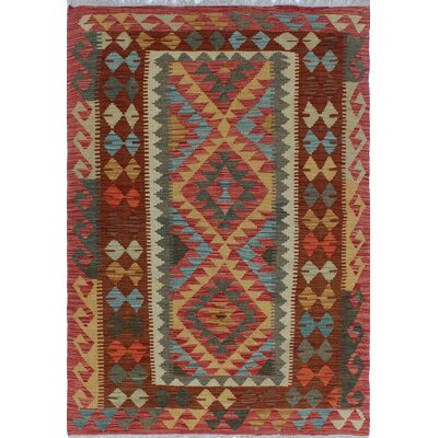 Rucker Kilim Hand Knotted Wool Rust Area Rug