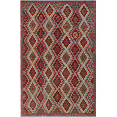 Rucker Kilim Rusty Hand Woven Wool Red/Beige Area Rug