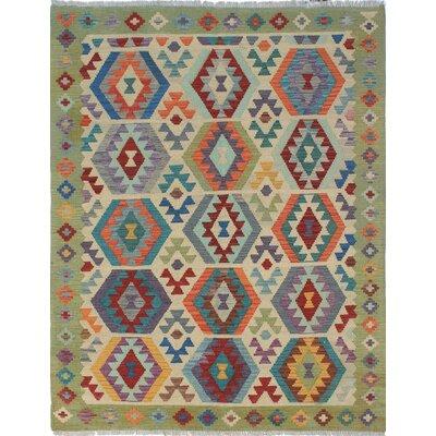 Vallejo Kilim Hand Woven Premium Wool Beige Area Rug
