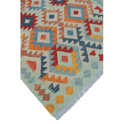 Rucker Kilim Hand Woven Wool Beige/Red Area Rug
