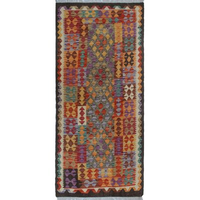 Rucker Kilim Hand Woven Wool Pink/Red Area Rug