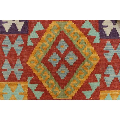 Vallejo Traditional Kilim Hand Woven 100% Wool Rectangle Beige Fringe Area Rug