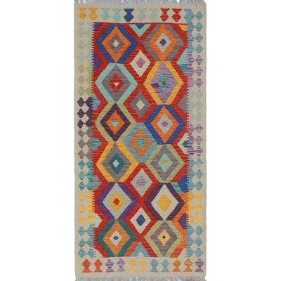 Rucker Kilim Hand Woven Wool Beige/Orange Area Rug