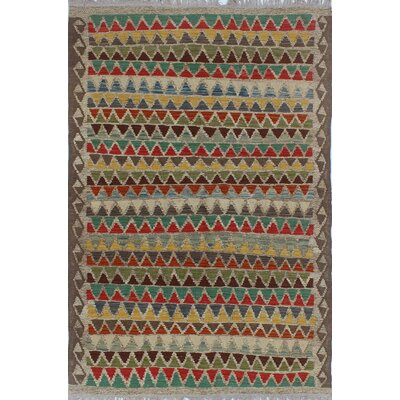 Rucker Traditional Kilim Hand Woven Wool Gray Area Rug Rug Size: Rectangle 42 x 63