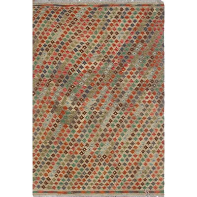 Vallejo Kilim Hand Woven Wool Rectangle Beige/Orange Area Rug