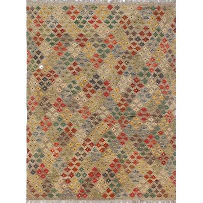 Vallejo Kilim Hand Woven Wool Beige/Orange Southwestern Area Rug