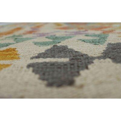 Vallejo Kilim Hand Woven Wool Rectangle Beige Southwestern Area Rug