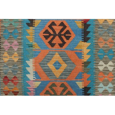 Rucker Kilim Hand Woven Wool Gold Area Rug