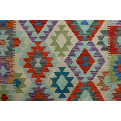 Rucker Kilim Hand Woven Wool Rectangle Beige Area Rug