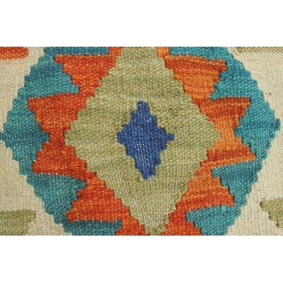Vallejo Traditional Kilim Hand Woven Wool Rectangle Beige Southwestern Fringe Area Rug