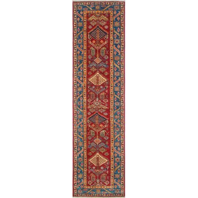 Calaveras Kazak Hand Knotted Wool Red Area Rug Rug Size: #N/A
