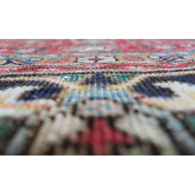 Stellan Vintage Distressed Overdyed Hand Knotted Wool Red Area Rug