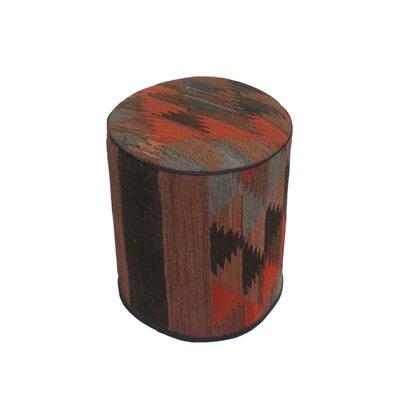 Ferranti Ottoman Upholstery: Brown/Black, Size: 17 H x 15 W x 15 D