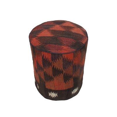 Ferranti Ottoman Upholstery: Brown/Black/Blue, Size: 17 H x 15 W x 15 D