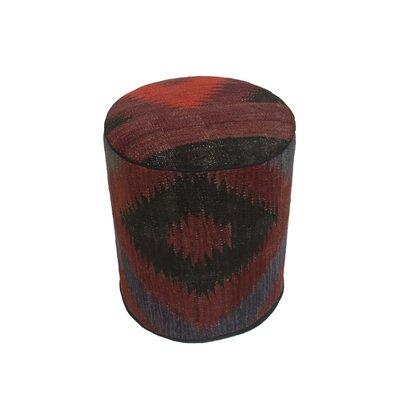 Ferranti Ottoman Upholstery: Brown/Gray, Size: 17 H x 15 W x 15 D