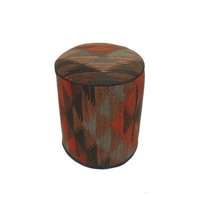 Ferranti Ottoman Upholstery: Brown/Pink, Size: 17 H x 15 W x 15 D