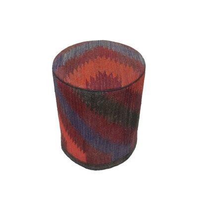 Ferranti Ottoman Upholstery: Burgundy/Blue, Size: 17 H x 15 W x 15 D