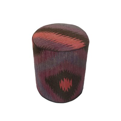 Ferranti Ottoman Upholstery: Purple/Black, Size: 17 H x 15 W x 15 D