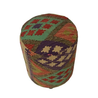 Ferranti Ottoman Upholstery: Beige/Black/Blue, Size: 20 H x 16 W x 16 D