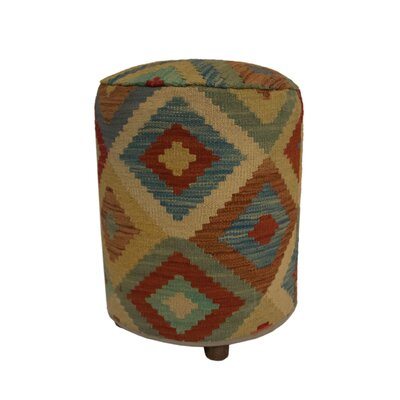 Ferranti Ottoman Upholstery: Beige/Black/Light Gray, Size: 20 H x 16 W x 16 D
