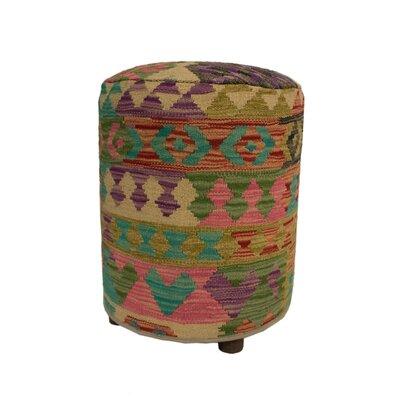 Ferranti Ottoman Upholstery: Beige/Black/Light, Size: 20 H x 16 W x 16 D