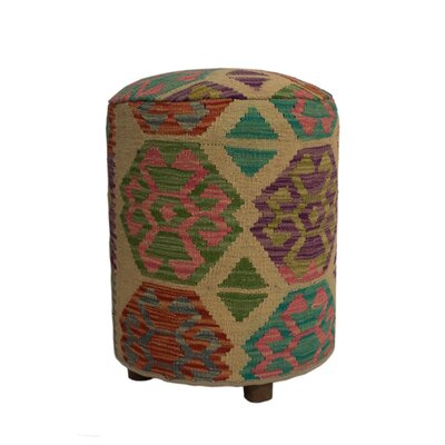 Ferranti Ottoman Upholstery: Beige/Gray/Light Pink, Size: 20 H x 16 W x 16 D