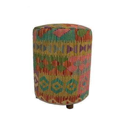 Ferranti Ottoman Upholstery: Beige/Gray/Light Yellow, Size: 20 H x 16 W x 16 D