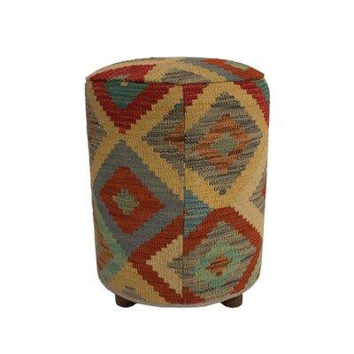 Ferranti Ottoman Upholstery: Beige/Gray/Light Black, Size: 20 H x 16 W x 16 D