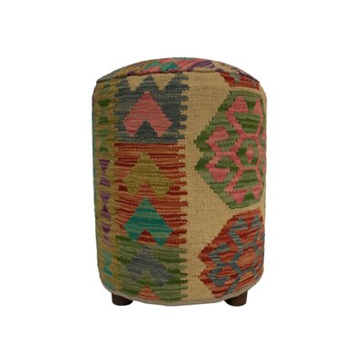 Ferranti Ottoman Upholstery: Beige/Gray/Yellow, Size: 20 H x 16 W x 16 D