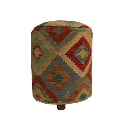 Ferranti Ottoman Upholstery: Beige/Blue, Size: 20 H x 16 W x 16 D