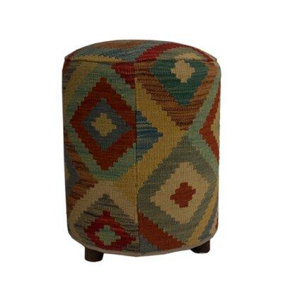 Ferranti Ottoman Upholstery: Beige/Red, Size: 20 H x 16 W x 16 D