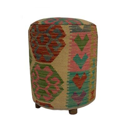 Ferranti Ottoman Upholstery: Beige/Orange/Blue, Size: 20 H x 16 W x 16 D