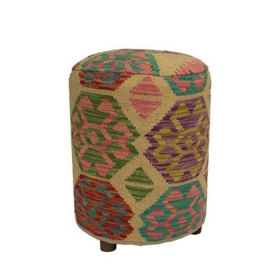 Ferranti Ottoman Upholstery: Beige/Orange/Gray, Size: 20 H x 16 W x 16 D