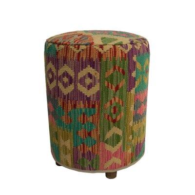 Ferranti Ottoman Upholstery: Beige/White/Orange, Size: 20 H x 16 W x 16 D