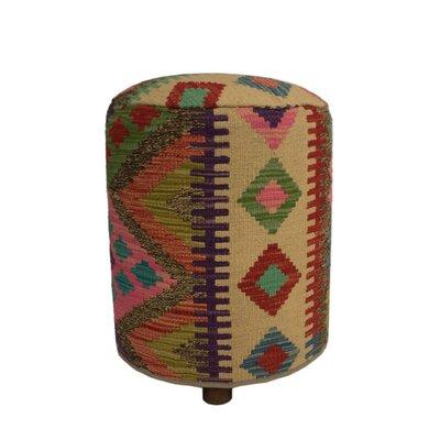 Ferranti Ottoman Upholstery: Beige/Yellow/Gray, Size: 20 H x 16 W x 16 D