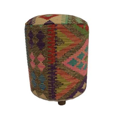 Ferranti Ottoman Upholstery: Brown/Blue, Size: 20 H x 16 W x 16 D