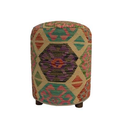 Ferranti Ottoman Upholstery: Gray/Beige/Yellow, Size: 20 H x 16 W x 16 D