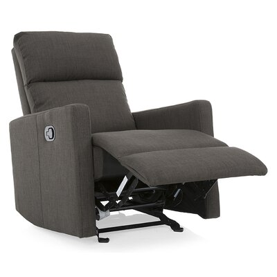 Nardo Manual Glider Recliner Upholstery: Charcoal