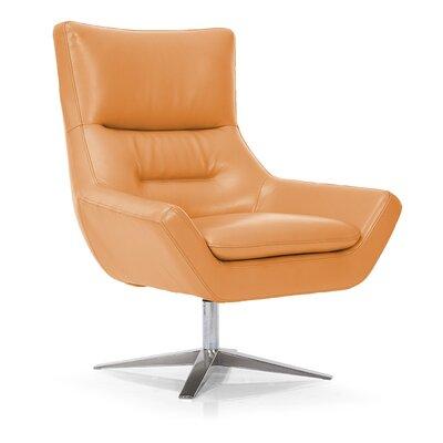 Franco Swivel Lounge Chair Upholstery: Orange