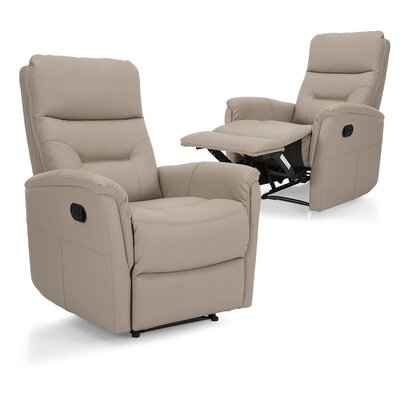 Gamitch Manual Recliner Upholstery: Beige