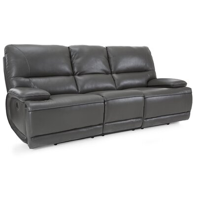 Akirah Leather Reclining Sofa