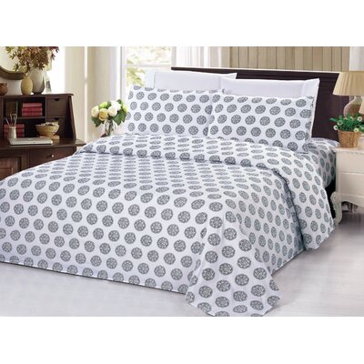 Circular Motif 4 Piece Sheet Set Size: King