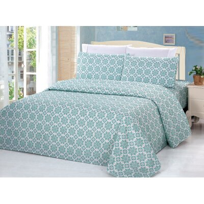 4 Piece Rayon Sheet Set Size: Queen