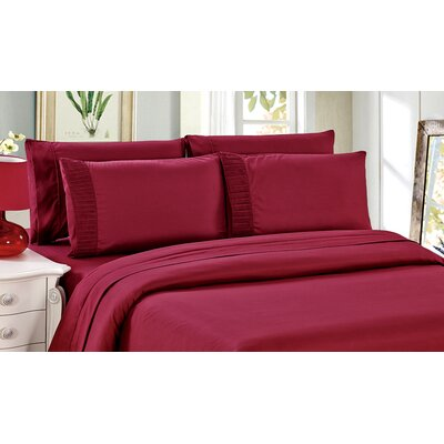 Byrnes Comfort and Soft Fitted Sheet Size: Double/Full, Color: Red