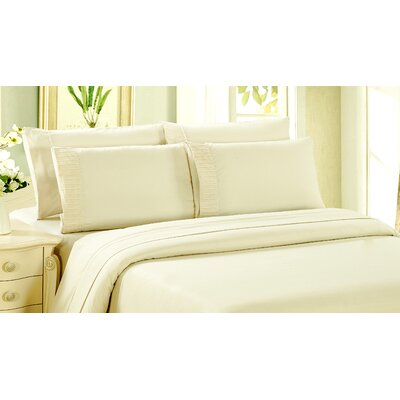 Byrnes Comfort and Soft Fitted Sheet Size: King, Color: Ivory