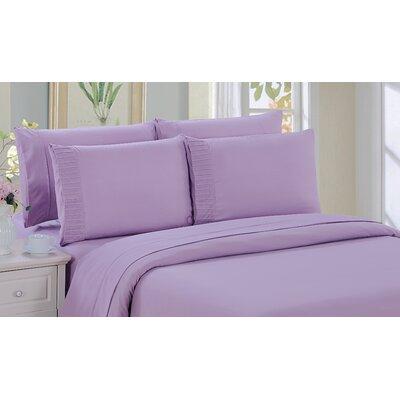 Byrnes Comfort and Soft Fitted Sheet Size: Double/Full, Color: Purple